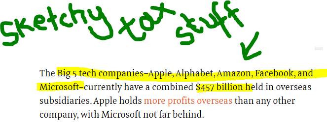 sketchy tax stuff newspaper clipping from Fast Company