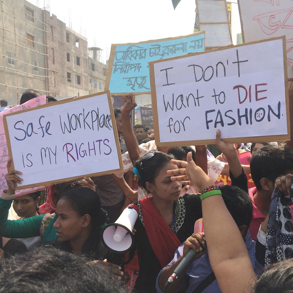 fast fashion garment worker protests