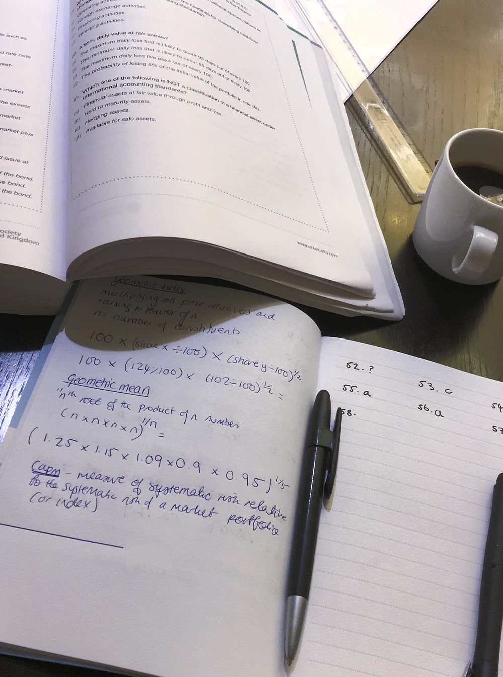 Study materials for investment management certificate