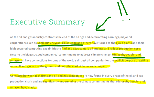 Greenpeace report about tech companies partnering with oil and gas Hannah Duncan Investment Content