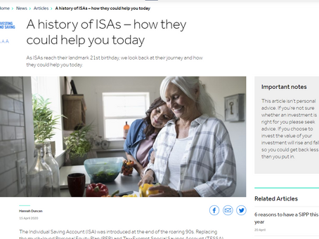 A fresh article about the history of ISAs