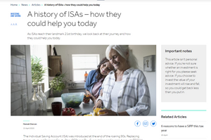 A history of ISAs - how they could help you today