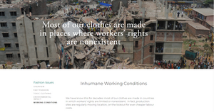 a news article about the abuse of garment workers