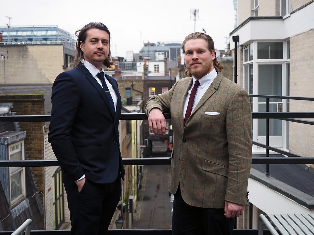Ben, Jon, Ethical Compass Management rooftop portrait