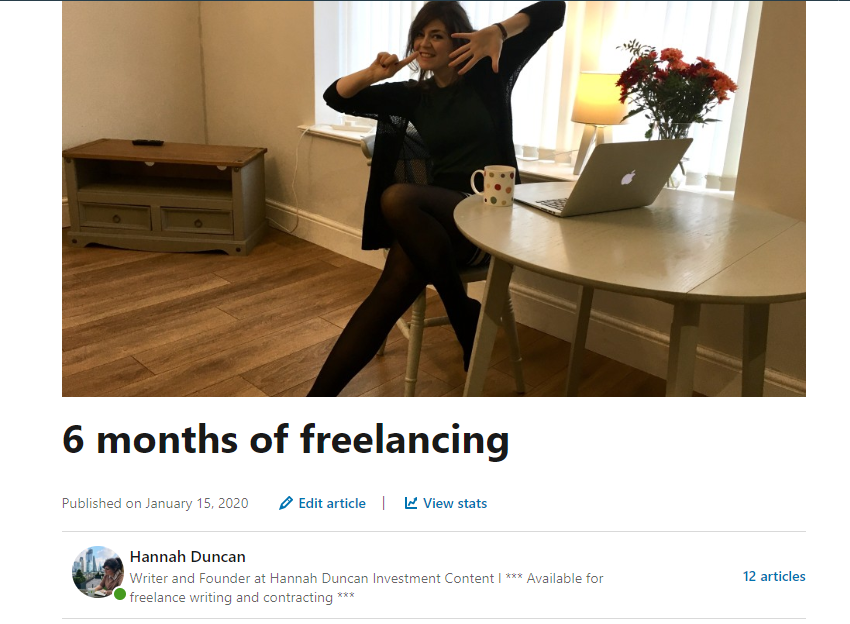 Copywriter, Hannah Duncan Investment Content