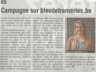 Campagne sur bleudeframeries.be