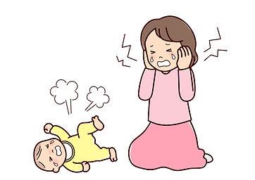 赤ちゃんの泣き声に耐えられないママ
