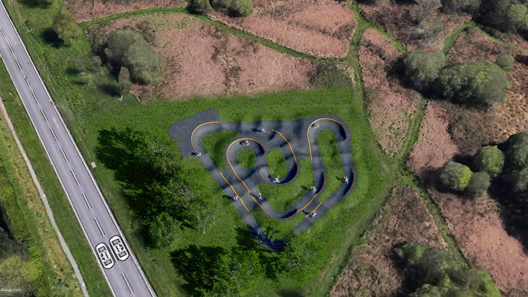 Bishopston Pump Track Design
