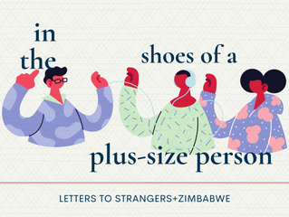 In the shoes of a plus-size person