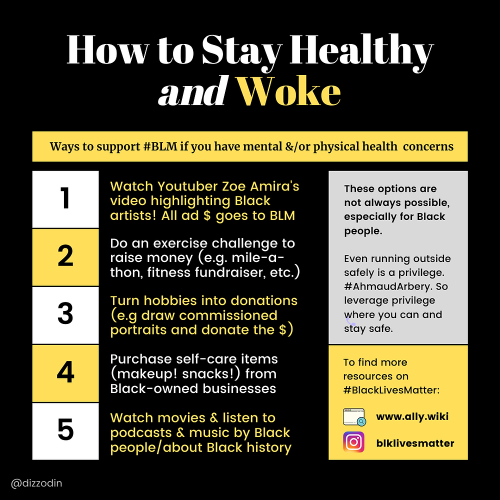 Infographic on How to Stay Healthy and Woke