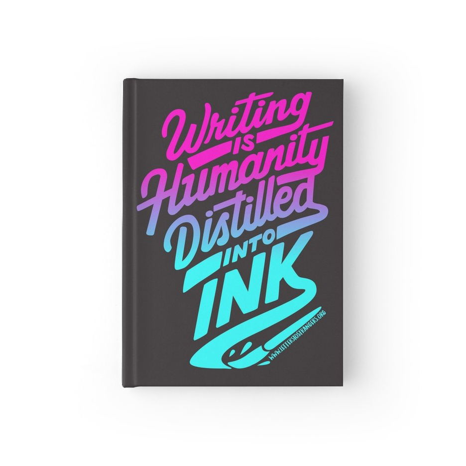 Hardcover Journal of Ink Quote