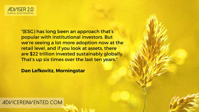 Dan Lefkovitz: Sustainable investing is an industry game-changer