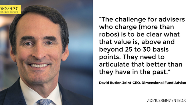 Dave Butler: Traditional advisers need to embrace robo technology