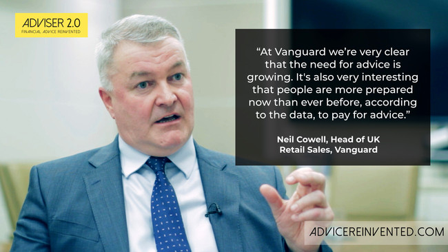 Demand for good advice will continue to grow, predicts Vanguard's Neil Cowell