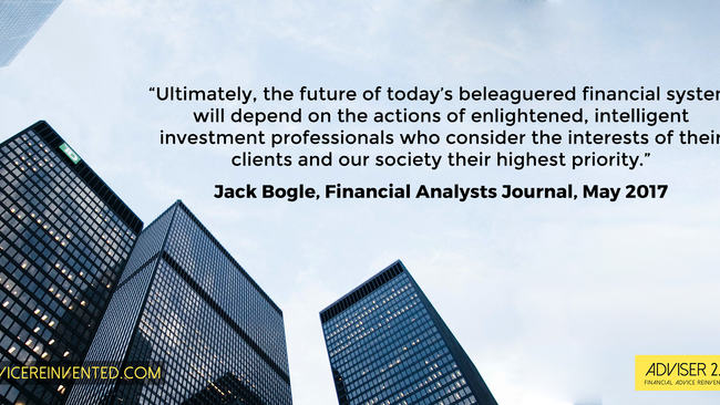 Bogle: How to restore professional standards in investing