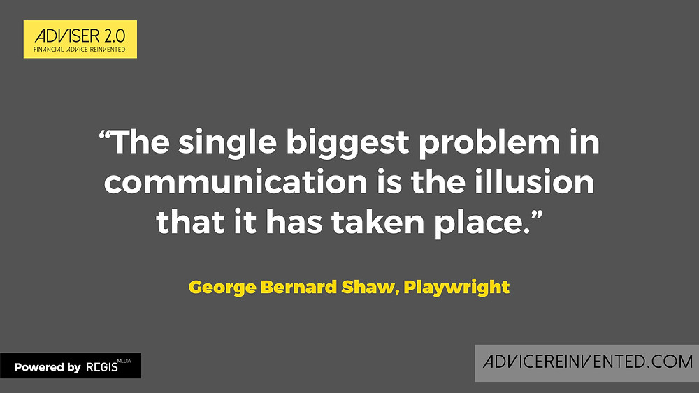 Quote from playwright George Bernard Shaw