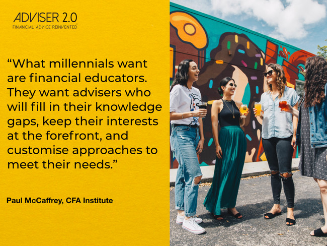 Study shows Millennials want advisers to educate them