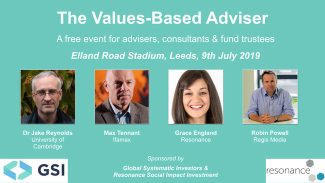 Free sustainable investing event for UK advisers