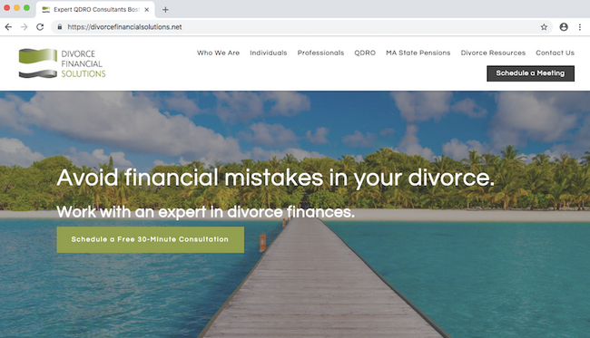 The foundations of a financial advice website