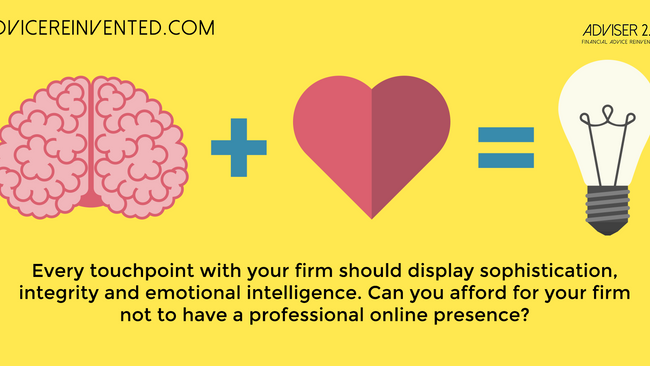 Don't ignore social media. Every touchpoint should be professional