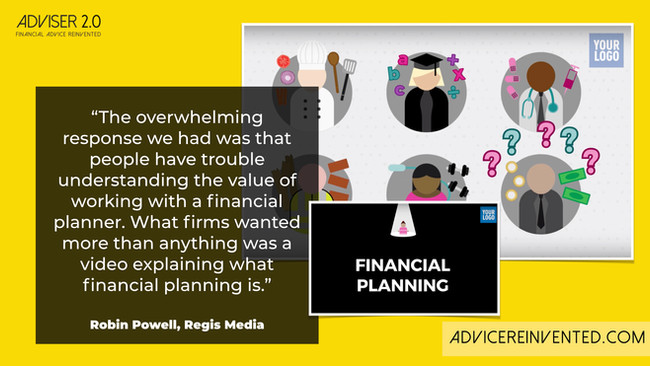 Branded videos to explain financial planning to prospects