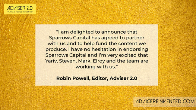 Introducing Sparrows Capital, our new strategic partner