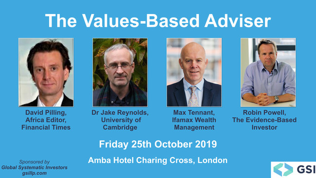 The Values-Based Adviser is coming to London