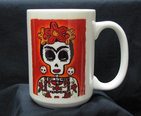 Frenzy Art - Frida Kahlo - Day of the Dead Coffee Mug