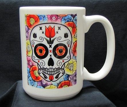 Frenzy Art - Tulipan - Day of the Dead Coffee Mug