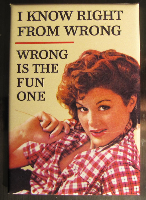 wrong is the fun one - magnet