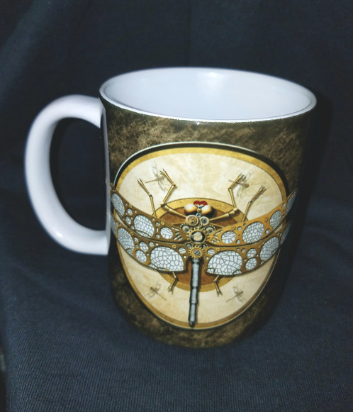 Steampunk Coffee Mug Dragonfly Whole Lotta Mugs Gift For All Occasions
