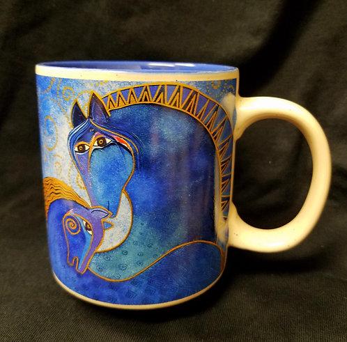Laurel Burch Horse Lovers Coffee Mug -Teal Mares
