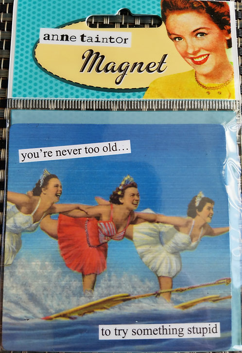 you're never too old Anne Taintor Magnet