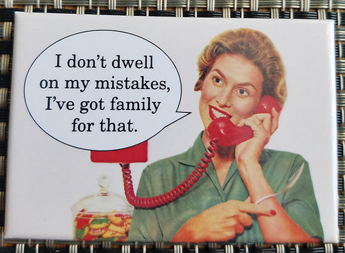 dwell on my mistakes - magnet
