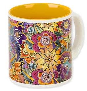 Laurel Burch Floral Coffee Mug - Carlotta