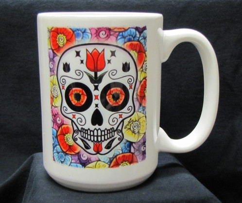 Frenzy Art Tulipan Day Of The Dead Coffee Mug Jpg Whole Lotta Mugs Gift For All Occasions