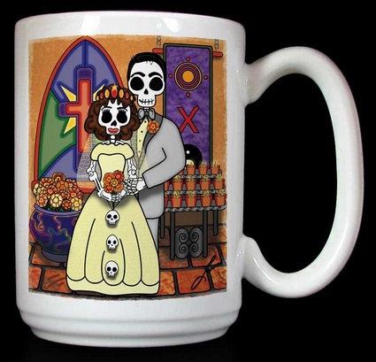 Frenzy Art - El Casamiento - Day of the Dead Wedding Gift Coffee Mug