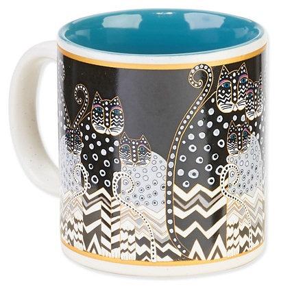 Laurel Burch Cat Lovers Coffee Mug - Polka Dot Cats
