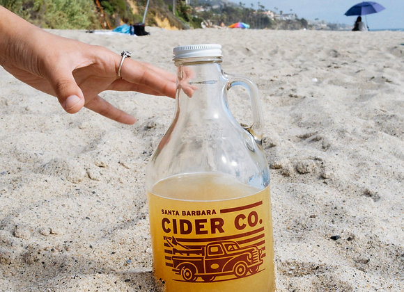 32oz SB Cider Growler with a Fill