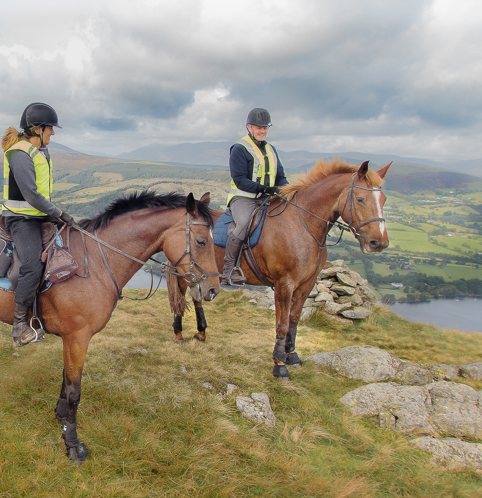 Having a rest overlooking Lake Ullswater