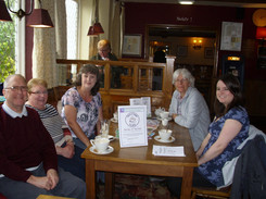 """May 2015 """"have a cuppa for M.E"""" Mannor Farm pub"""
