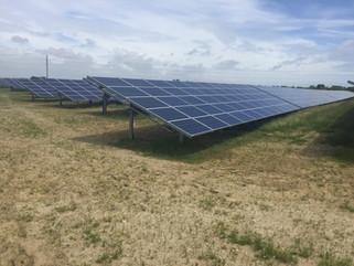 Solar panels in the sun.