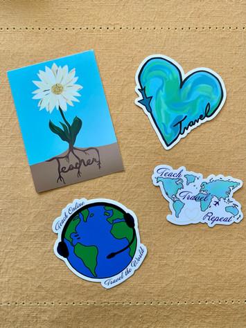 Teach & Travel Stickers