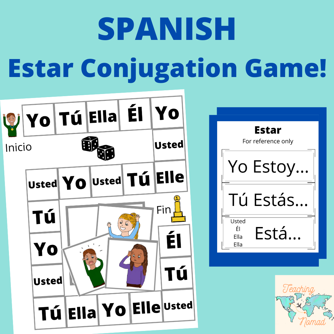 Spanish Estar Conjugation Board Game