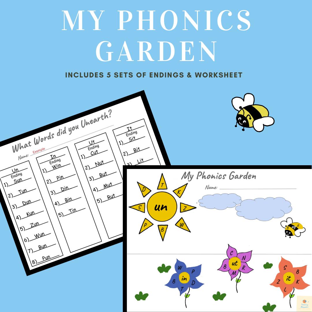 SpringTime Phonics Fun Worksheets