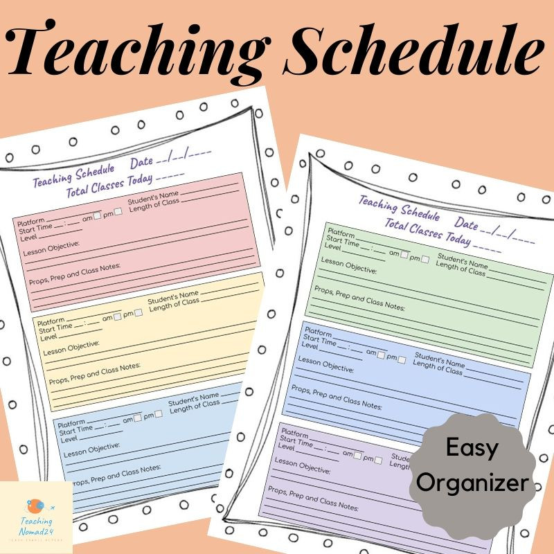 Daily Online Class Organizer