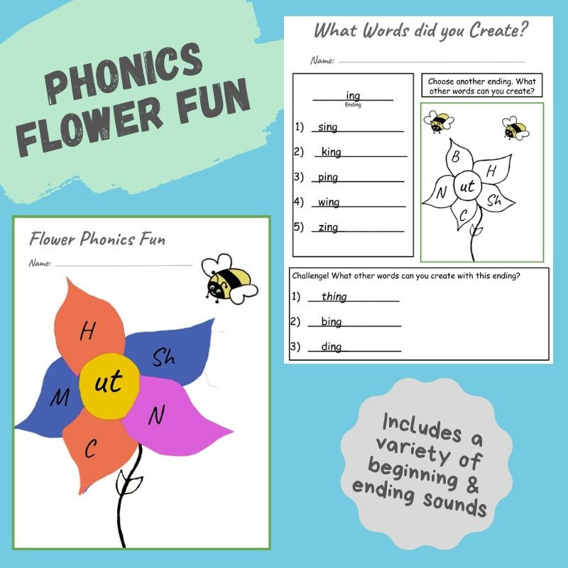 Phonics Flower Fun Activity