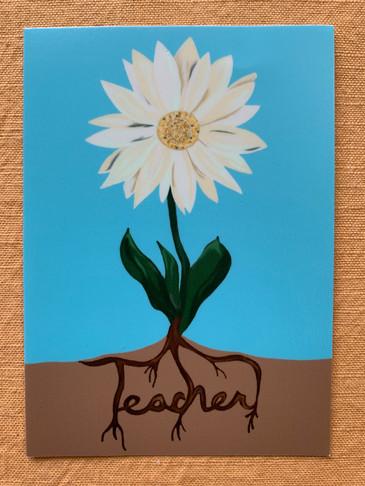 Teach and Grow Flower Sticker