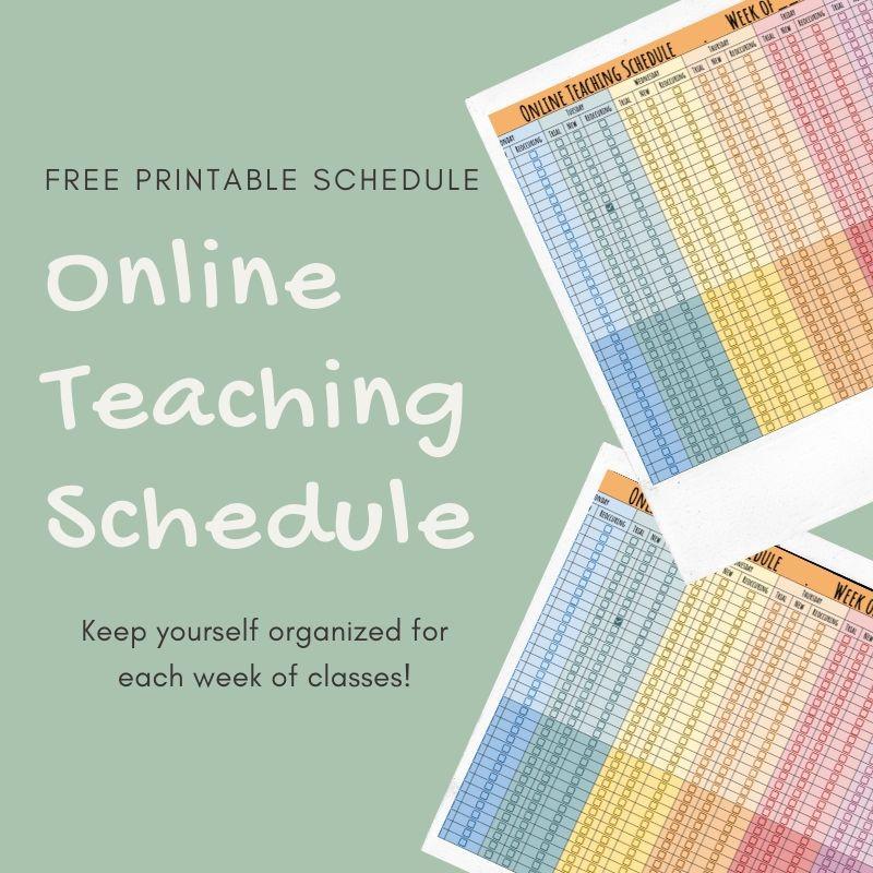 Online Teaching Schedule