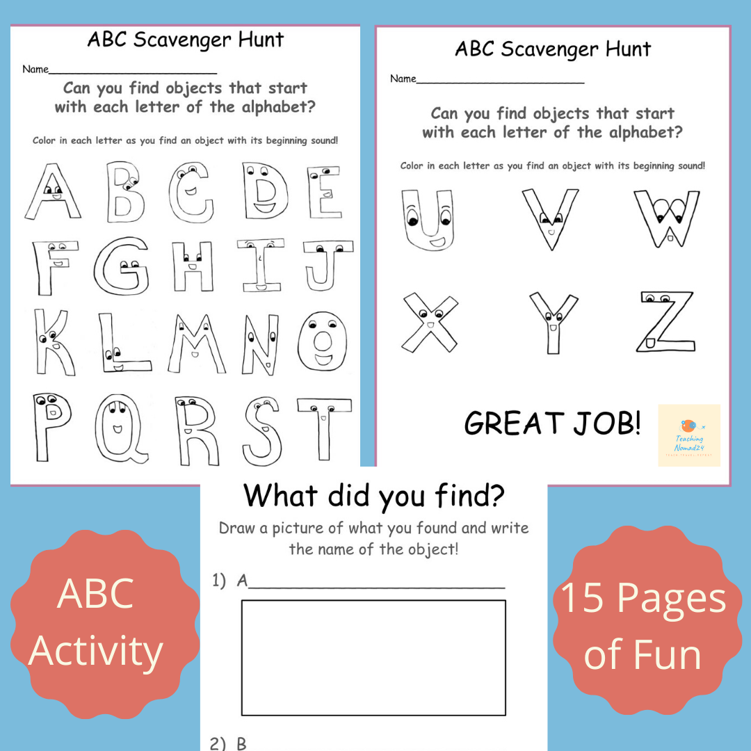 ABC Scavenger Hunt (
